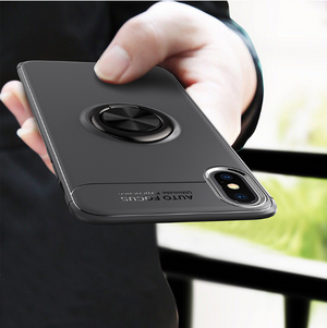 Magnetic phone case with ring for iPhone