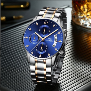 Hot Selling!!!2019 Fine steel case steel band business x leisure watch