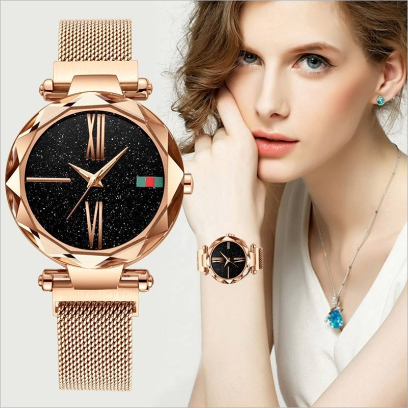(Hot Selling 50%  Off and Free Shipping)Magnet Milan Star Lady Watch