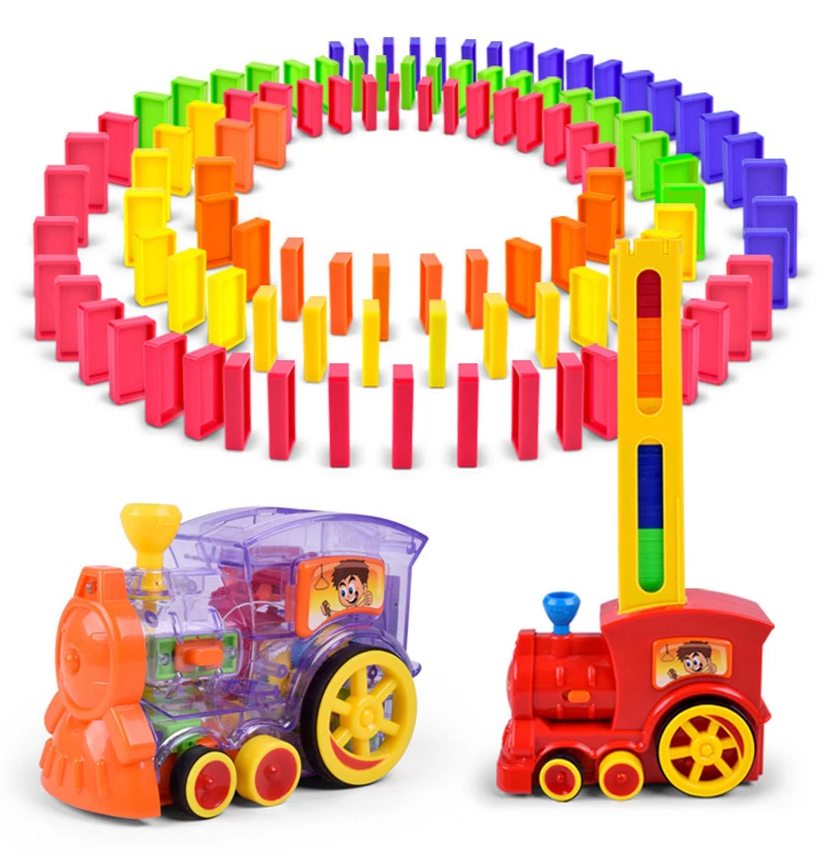(Free shipping)Domino Educational Toy Train