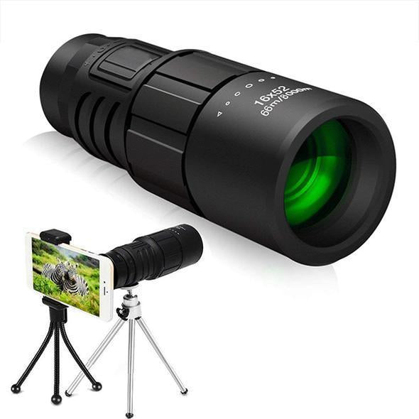 【TWO FREE SHIPPING】16X52 High Power Prism Monocular Telescope (Waterproof Fogproof Shockproof Scope)