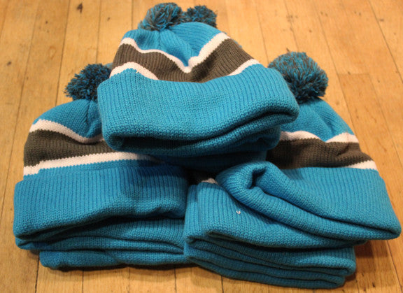 Wholesale lot of 11 Blue/ GreyThrowback beanies