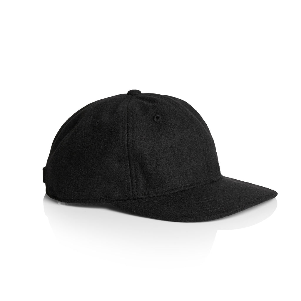 1113 Wool Unstructured 6 Panel - Black