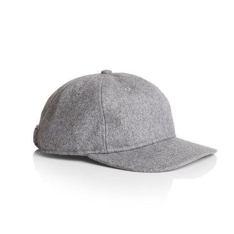 1113 Wool Unstructured 6 Panel - Grey