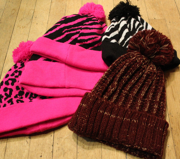 Wholesale lot of 5 Random Pom beanies
