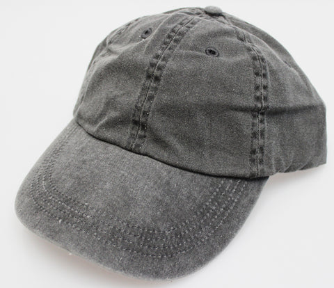 Black Pigment Dye Low Profile Dad Cap (SALE)