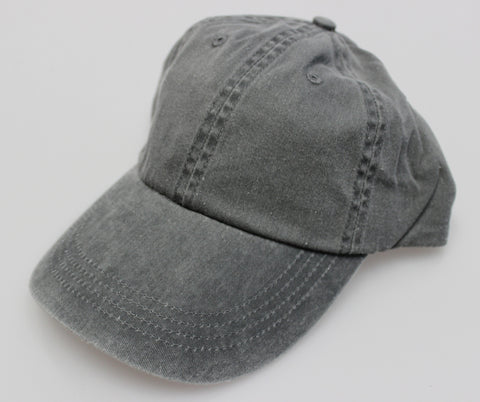 Charcoal Pigment Dye Low Profile Dad Cap (SALE)