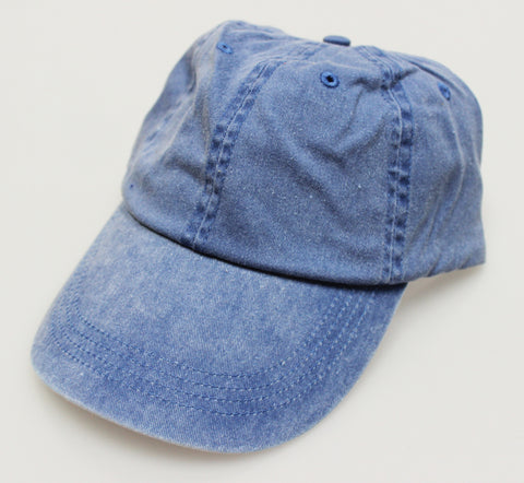 Deck Blue Pigment Dye Low Profile Dad Cap (SALE)