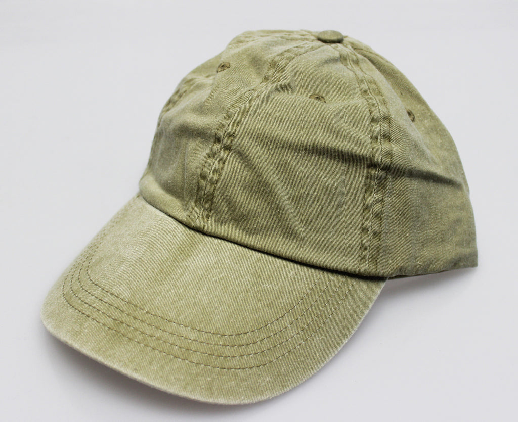 Khaki Pigment Dye Low Profile Dad Cap