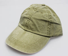 Khaki Pigment Dye Low Profile Dad Cap (SALE)