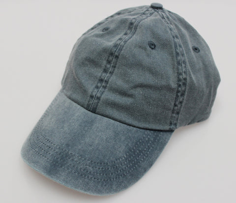Navy Pigment Dye Low Profile Dad Cap (SALE)