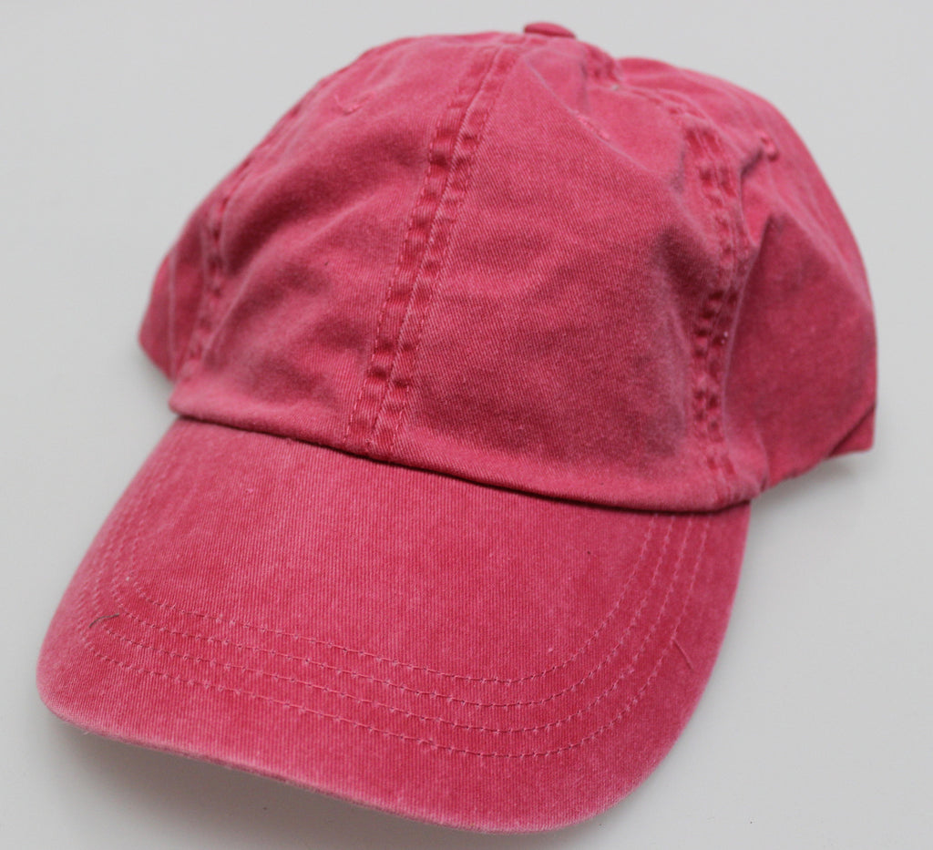 Rasberry Pigment Dye Low Profile Dad Cap (SALE)