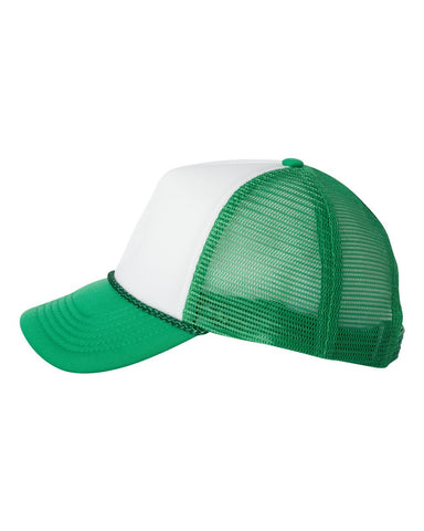Foam Trucker - White/ Kelly Green