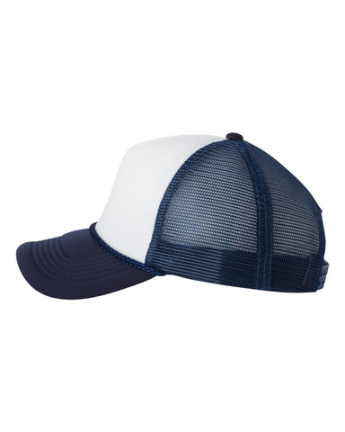 Foam Trucker - White/ Navy