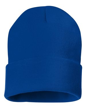 "Solid 12"" Knit Beanie - Royal Blue"