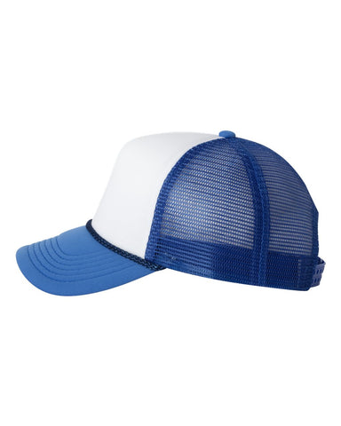 Foam Trucker - White/ Royal