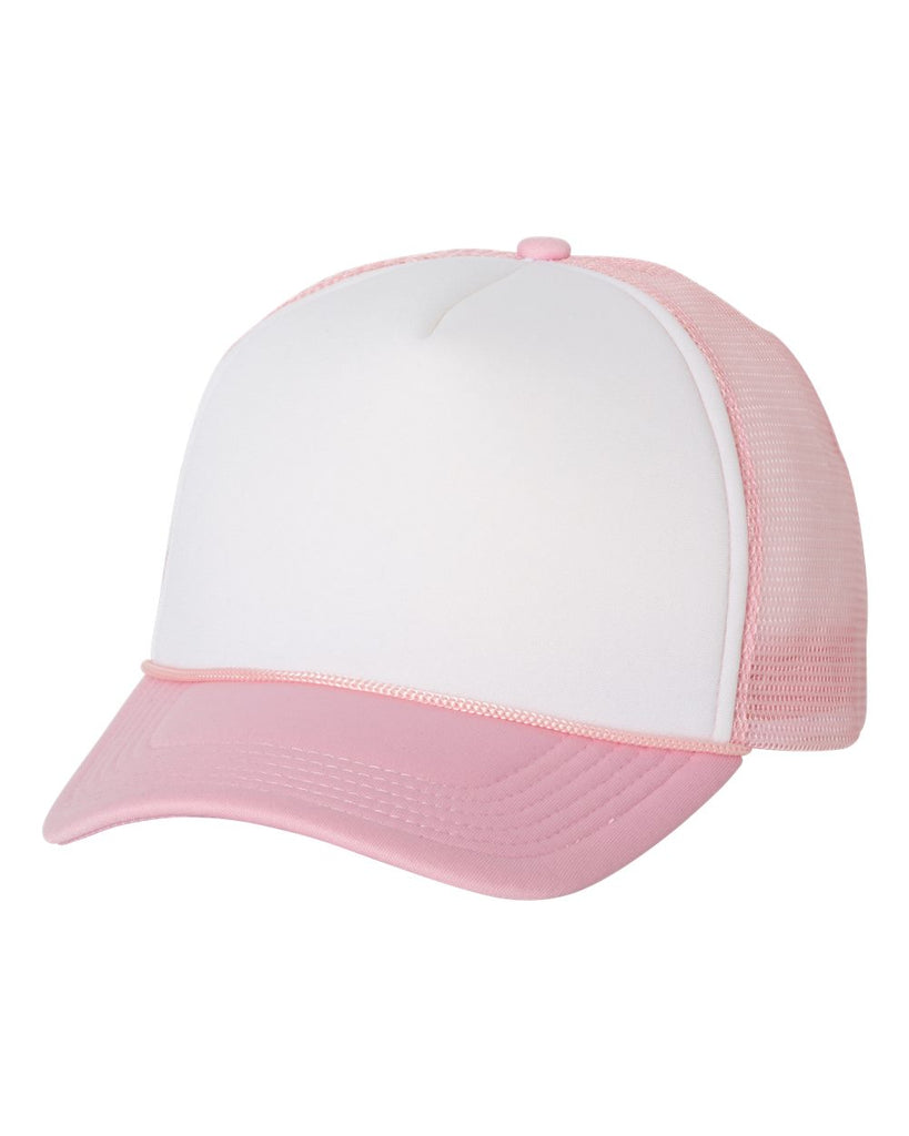 Foam Trucker - White/ Pink