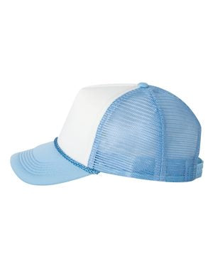 Foam Trucker - White/ Baby Blue