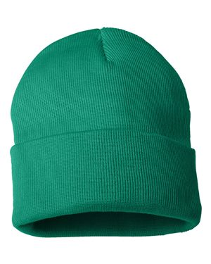 "Solid 12"" Knit Beanie - Kelly Green"