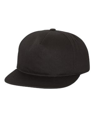 Yupoong Unstructured Snapback - Black