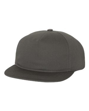 c7a302ae50d Yupoong Unstructured Snapback - Charcoal - Bulk-Caps Wholesale Headwear