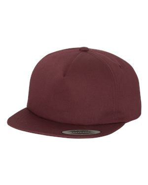 Yupoong Unstructured Snapback - Maroon