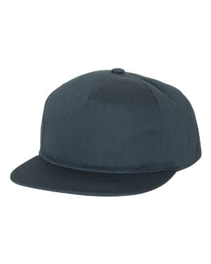 Yupoong Unstructured Snapback - Navy