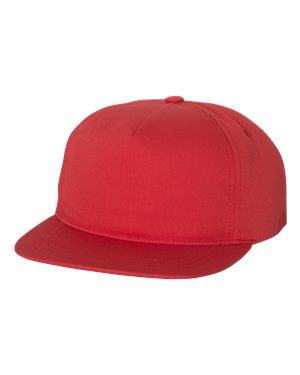 Yupoong Unstructured Snapback - Red