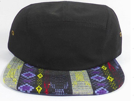 Black/ Blue Tribal 5-Panel