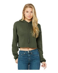 Women's Cropped Fleece Hoodie -  Heather Dust