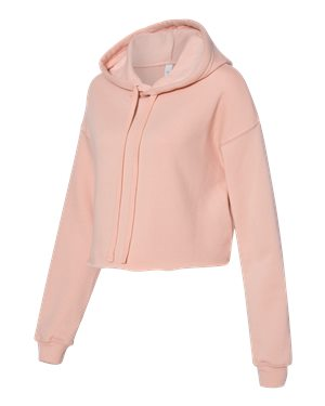 Women's Cropped Fleece Hoodie - Pink