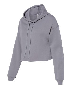 Women's Cropped Fleece Hoodie -  Storm Grey