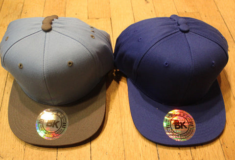 Wholesale lot of  9 2-Tone Snapbacks Blue
