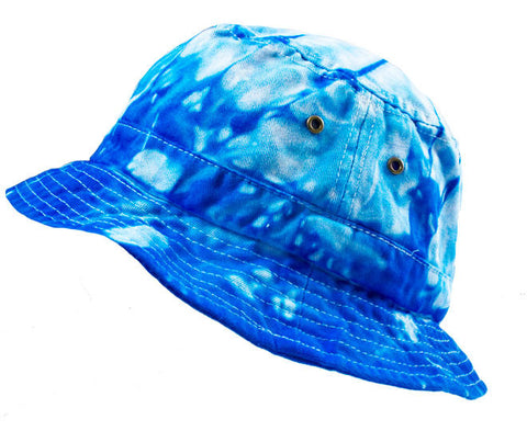 SPIDER BABY BLUE TIE DYE BUCKET HAT
