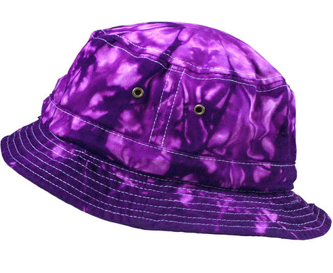 SPIDER PURPLE TIE DYE BUCKET HAT