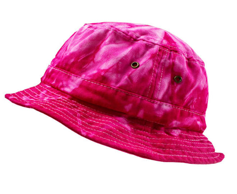 SPIDER PINK TIE DYE BUCKET HAT