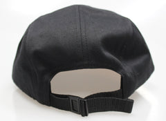 Black Cotton / Brown Suede 5-Panel Camper Hat