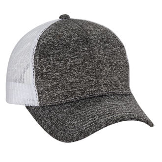 Tri Blend 6-Panel Mesh Dad Hat - Charcoal / White