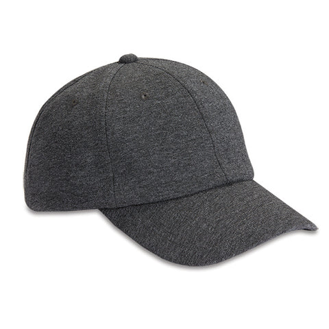 Jersey Blend Charcoal 6-Panel Unstructured Dad Hat