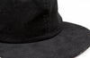 Black Corduroy 6-Panel Flatbill Hat