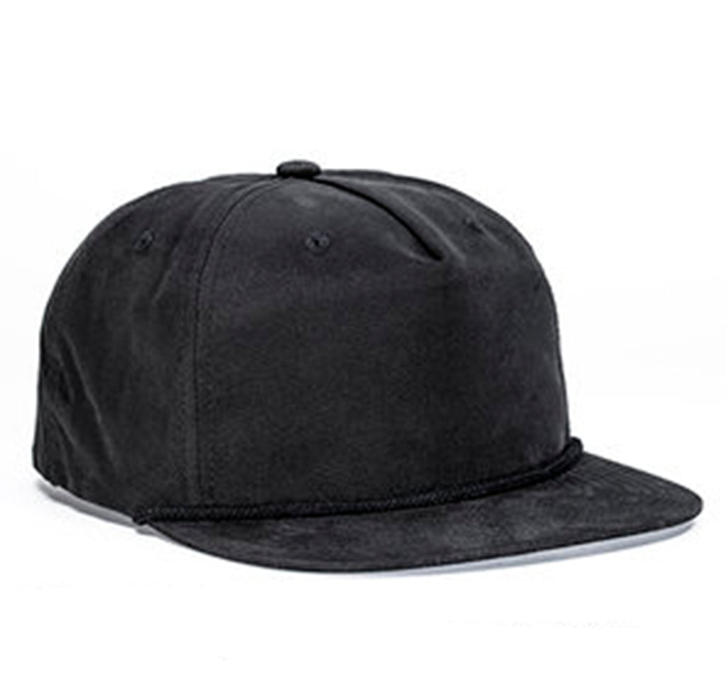 Nylon Rope Snapback - Black