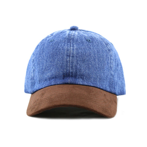 BLUE DENIM / SUEDE 6-PANEL DAD HAT