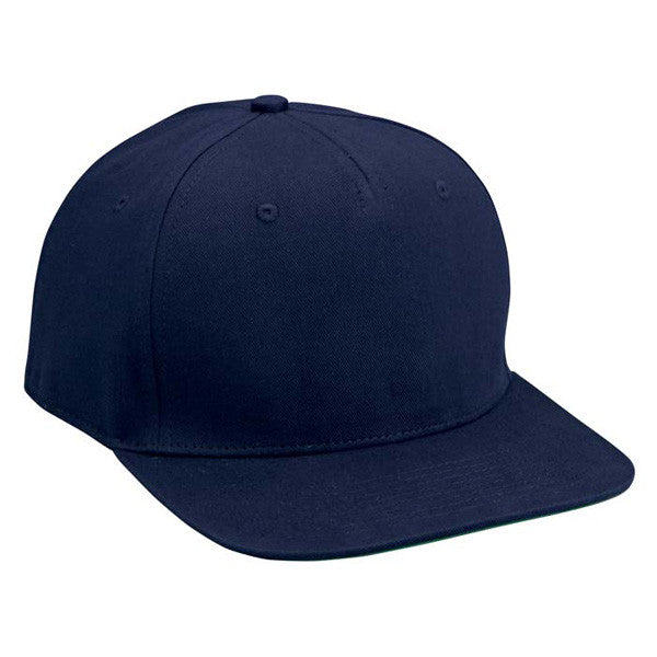 Navy Cotton Twill Snapback Hat