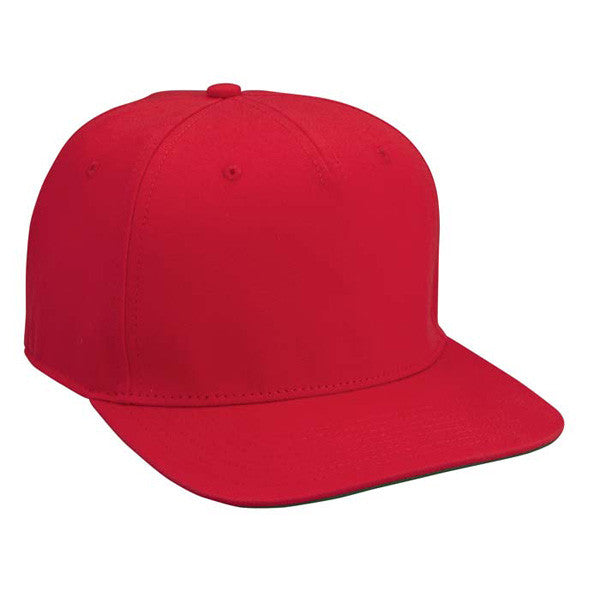 Red Cotton Twill Snapback Hat