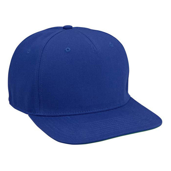 Royal Blue Cotton Twill Snapback Hat