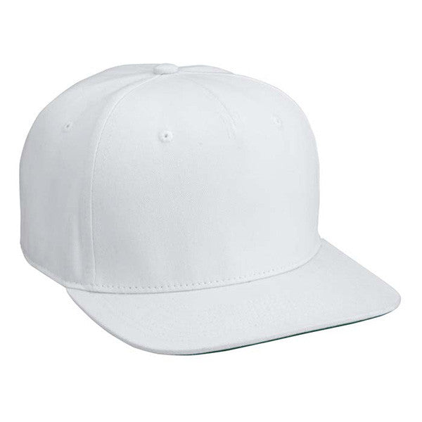 White Cotton Twill Snapback Hat