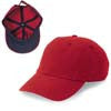 Gap Style Dad Hats - Bright Red/ Navy