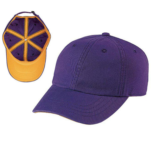 Gap Style Dad Hats - Purple/ Yellow