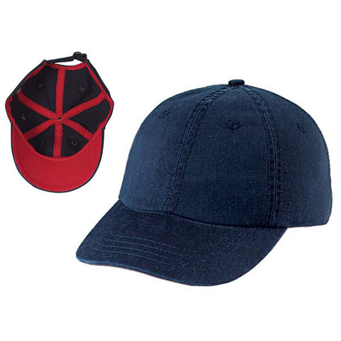 Gap Style Dad Hats - Navy/ Dark Red