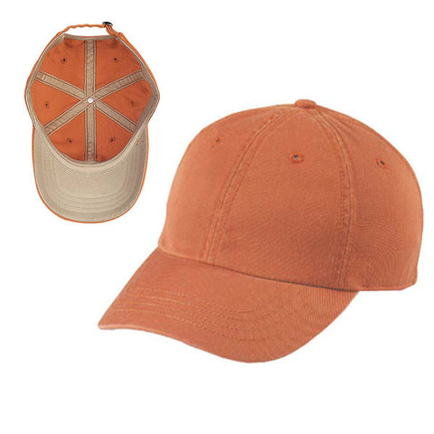 Gap Style Dad Hats - Orange/ Khaki